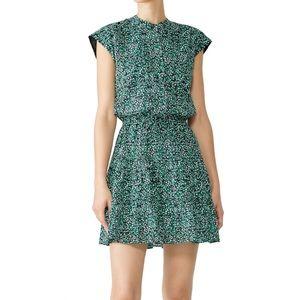 ❤️Rebecca Minkoff Floral Green White Ollie Dress M